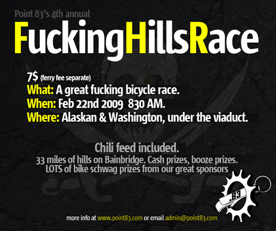 Fuck the Hills Race Flyer